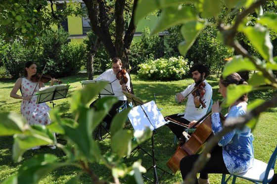 Streichkonzert im GArten - Christine Maria Häller Salzburg