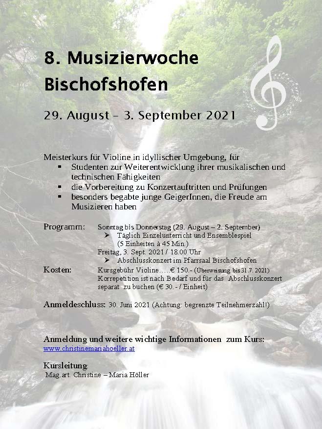 8. Musizierwoche in Bischofshofen